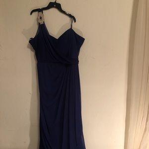Blue formal long dress 22x